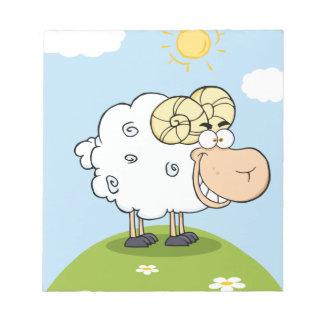 Mascota feliz del dibujo animado del espolón blocs