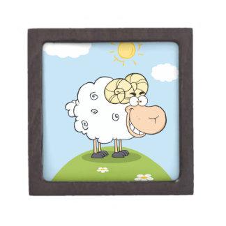 Mascota feliz del dibujo animado del espolón caja de regalo de calidad