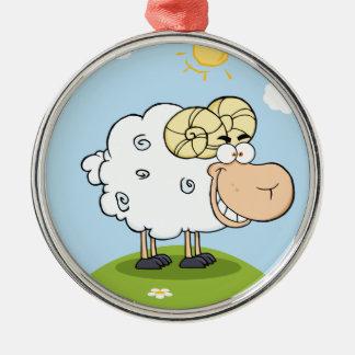 Mascota feliz del dibujo animado del espolón ornaments para arbol de navidad