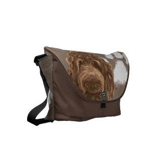 Mascota grande de la bolsa de mensajero el | del bolsa de mensajeria
