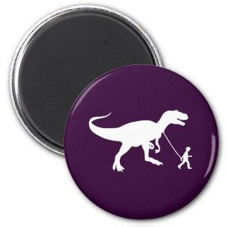 Mascota lindo de T-rex Imán Redondo 5 Cm