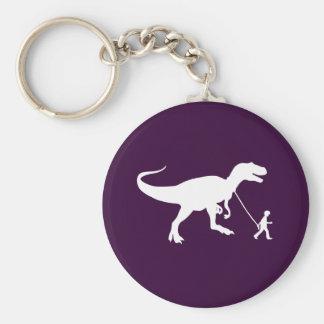 Mascota lindo de T-rex Llavero Redondo Tipo Pin
