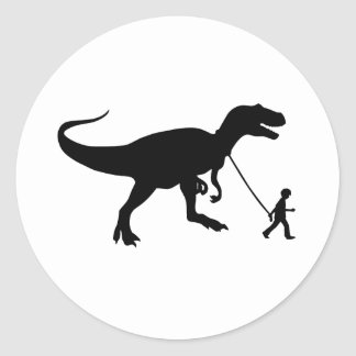 Mascota lindo de T-rex Pegatina Redonda