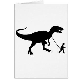 Mascota lindo de T-rex Felicitación