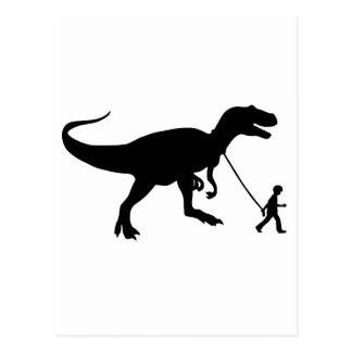 Mascota lindo de T-rex Tarjetas Postales