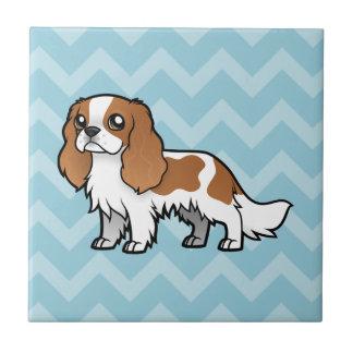 Mascota lindo del dibujo animado azulejo cuadrado pequeño