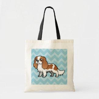 Mascota lindo del dibujo animado bolsa tela barata