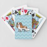 Mascota lindo del dibujo animado baraja cartas de poker