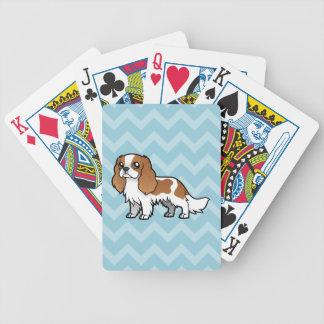 Mascota lindo del dibujo animado cartas de juego