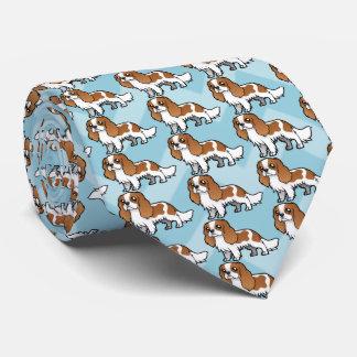 Mascota lindo del dibujo animado corbata personalizada