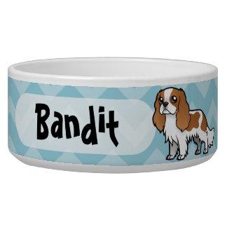 Mascota lindo del dibujo animado tazones para perro