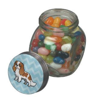 Mascota lindo del dibujo animado frascos de cristal