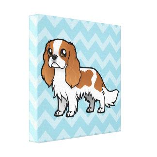 Mascota lindo del dibujo animado impresión en lienzo