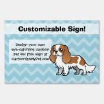 Mascota lindo del dibujo animado letrero