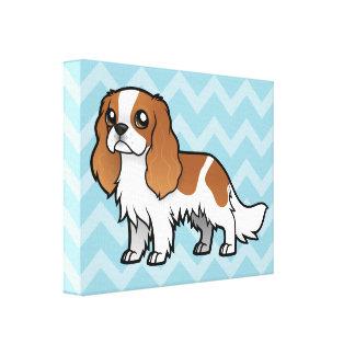 Mascota lindo del dibujo animado impresiones en lona
