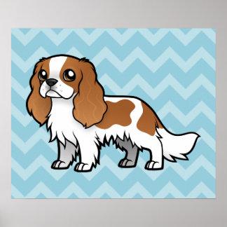 Mascota lindo del dibujo animado impresiones