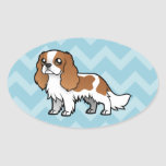 Mascota lindo del dibujo animado pegatina