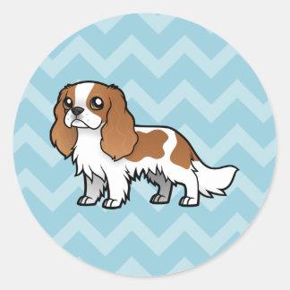 Mascota lindo del dibujo animado pegatina redonda