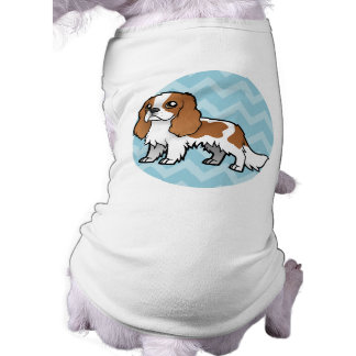 Mascota lindo del dibujo animado playera sin mangas para perro