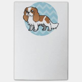 Mascota lindo del dibujo animado post-it® notas