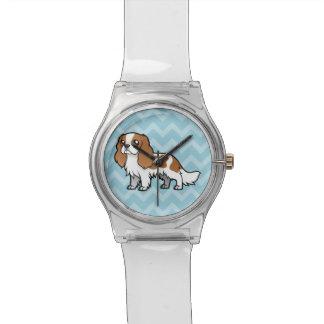 Mascota lindo del dibujo animado reloj