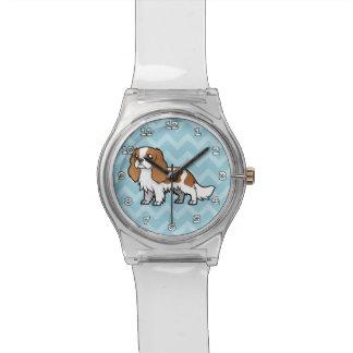 Mascota lindo del dibujo animado relojes