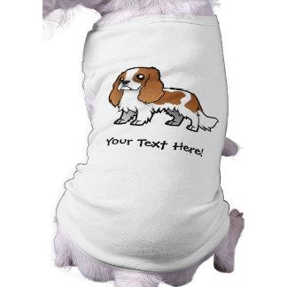 Mascota lindo del dibujo animado camisa de perrito