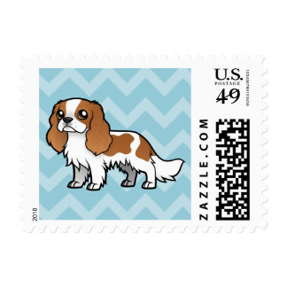 Mascota lindo del dibujo animado sello postal