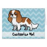 Mascota lindo del dibujo animado tarjeta