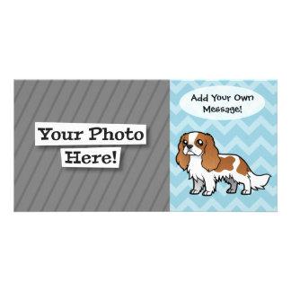 Mascota lindo del dibujo animado tarjetas fotograficas