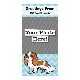 Mascota lindo del dibujo animado tarjeta fotografica