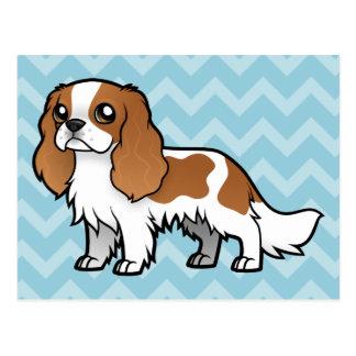 Mascota lindo del dibujo animado tarjeta postal
