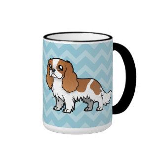 Mascota lindo del dibujo animado taza