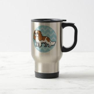 Mascota lindo del dibujo animado tazas de café