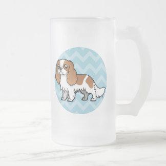 Mascota lindo del dibujo animado taza de cristal