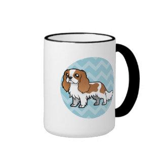 Mascota lindo del dibujo animado taza de dos colores