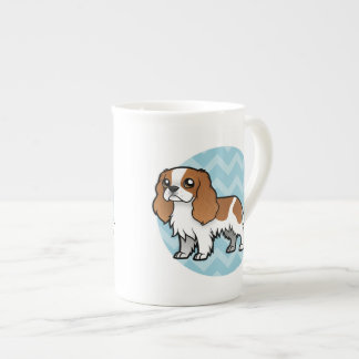 Mascota lindo del dibujo animado taza de porcelana