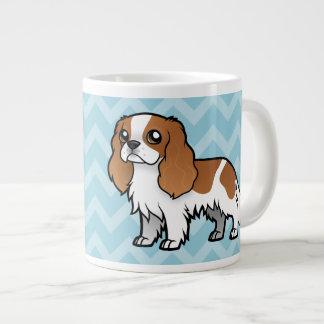 Mascota lindo del dibujo animado taza grande