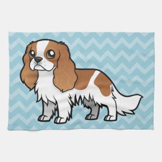 Mascota lindo del dibujo animado toalla de mano