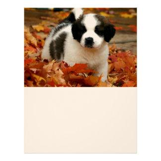 Mascota lindo St Bernard del perro de perrito Membrete Personalizado
