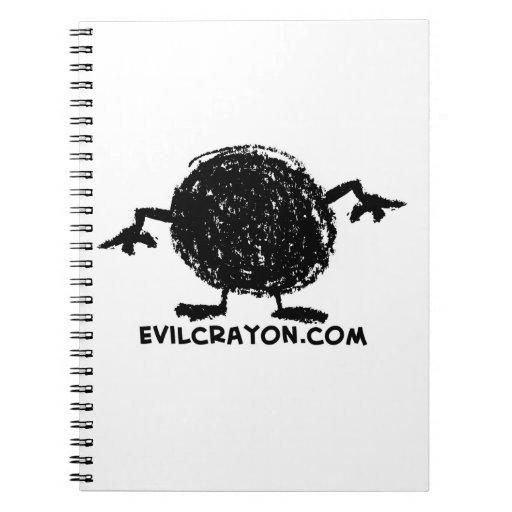 Mascota malvada del creyón notebook