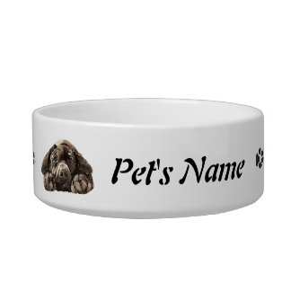 Mascota negro de encargo de Labrador del nombre y  Tazones Para Comida Para Gato