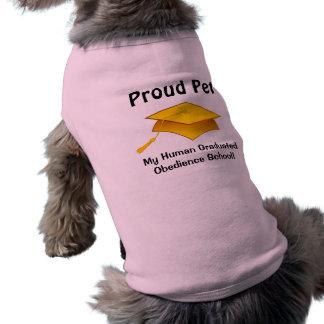 Mascota orgulloso - diplomado de escuela humano de playera sin mangas para perro