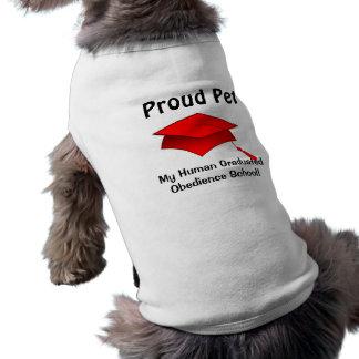 Mascota orgulloso - diplomado de escuela humano de camisetas mascota