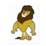 Mascota - oro del león postales