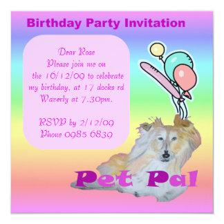 """Mascota PAL Invitación 5.25"""" X 5.25"""""""