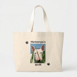 Mascota personalizado bolsa tela grande