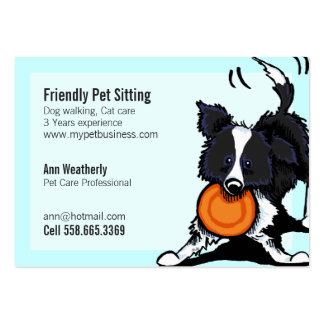 Mascota que sienta brillante amistoso del border c tarjeta de visita