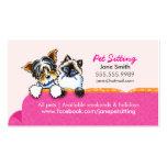 Mascota que sienta Yorkie con rosa del sofá del ga Plantilla De Tarjeta De Visita