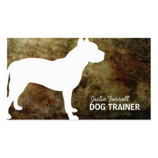 Mascota Realated de Staffy del pitbull Tarjetas Personales